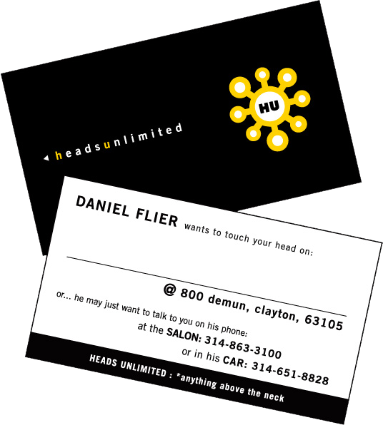 heads unlimited business cards